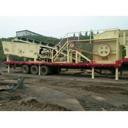 茂名移动破碎-金茂机械砂石设备-轮胎式破碎站图片
