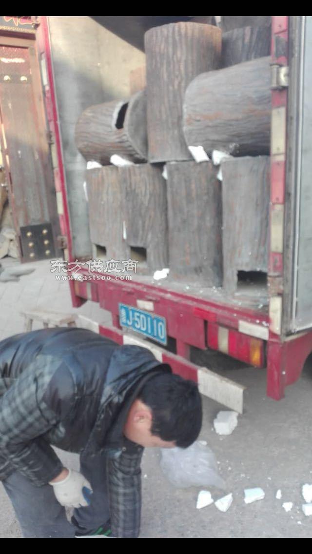 景区树桩垃圾桶,乐东树桩垃圾桶,泰安压哲仿木栏杆图片