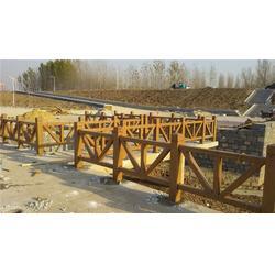 龙华水泥仿木栏杆、水泥仿木栏杆模型、泰安压哲仿木栏杆图片