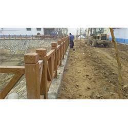 混凝土仿木栏杆工艺-滁州混凝土仿木栏杆-泰安压哲仿木栏杆图片