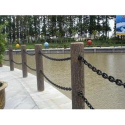 仿木护栏安装-1区6县仿木护栏-压哲艺术围栏图片