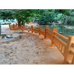 仿木栏杆塑料模具哪家好,仿木栏杆塑料模具,泰安压哲仿木栏杆图片