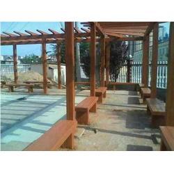 泰安压哲仿木栏杆、仿木廊架、仿木廊架图片
