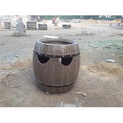树桩垃圾桶厂家、金华树桩垃圾桶、泰安压哲仿木栏杆(多图)图片