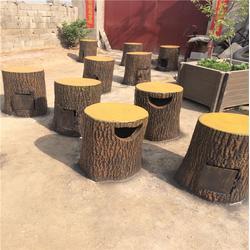 赤峰树桩垃圾桶_树桩垃圾桶厂家_泰安压哲仿木栏杆图片