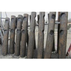 仿树皮栏杆-泰安压哲仿木栏杆(优质商家)福建仿树皮栏杆安装图片