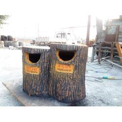 吐鲁番树桩垃圾桶_泰安压哲仿木栏杆_树桩垃圾桶厂家图片
