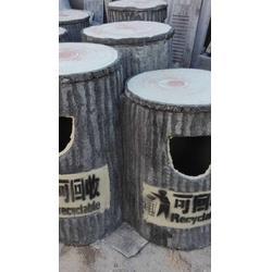泰安压哲仿木栏杆、江门树桩垃圾桶、公园树桩垃圾桶图片