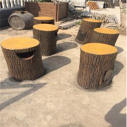 泰安压哲仿木栏杆_潍坊仿木垃圾桶_混凝土仿木垃圾桶图片
