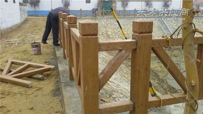 树皮仿木护栏设备-泰安压哲仿木栏杆(在线咨询)延边仿木护栏图片