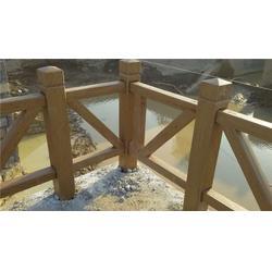 攀枝花仿木护栏-泰安压哲护栏-混凝土仿木护栏图片