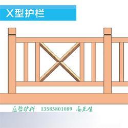 太原景区仿木护栏图片