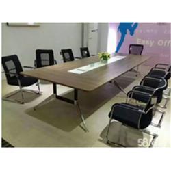 渝中会议桌现代钢架桌|鼎派家具图片