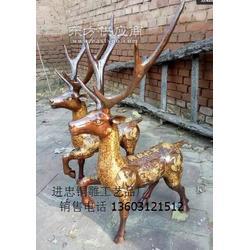 铸造铜雕鹿-铸铜鹿-景区铜鹿加工厂