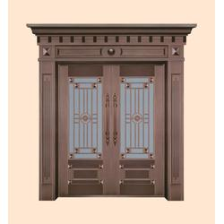 玻璃铜门效果图|玻璃铜门|江阴神韵(查看)图片