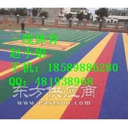 合浦EPDM彩色塑胶地面施工图片