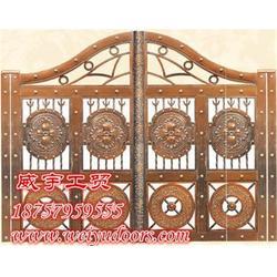 庭院铜门报价 庭院铜门 威宇铜门设计独特图片
