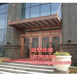 威宇铜门质量可靠 子母铜门-铜门图片