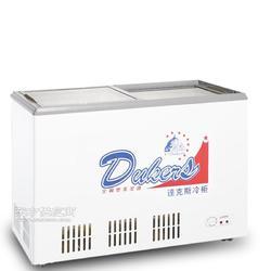 达克斯WDG-318A冷冻冷藏双温双机玻璃饮料商用铜管冷柜图片