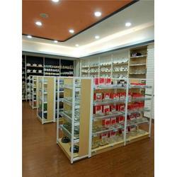 超市货架定制-悬臂式超市货架-文具店货架,百仕特图片