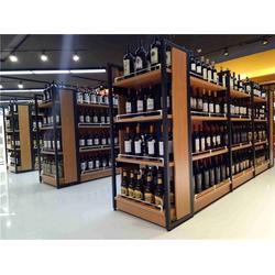百仕特 钢木超市货架样式-钢木超市货架图片