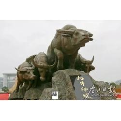 望天铜牛雕塑-雕塑厂家-抚州铜牛图片