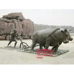 加工定制 開荒銅牛雕塑-嘉興銅牛圖片