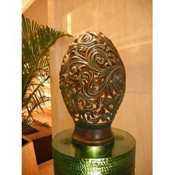 嘉义铜灯罩-天顺雕塑-铜灯罩广场安全雕塑图片