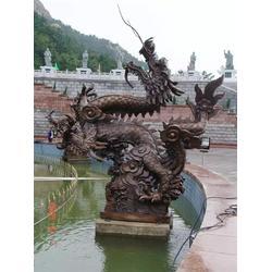 喷水铜龙雕塑制作-天顺雕塑-宝鸡铜龙雕塑图片