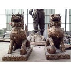 镇宅铜麒麟雕塑-新疆麒麟-天顺雕塑图片