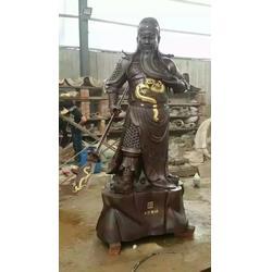 貼金彩繪關公銅佛像-安寧關公銅佛像-廠家直銷(查看)圖片