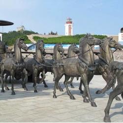 铜马制造厂 腾飞铜马雕塑-驻马店铜马图片