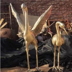 故宫鹤雕塑-铜川鹤雕塑-来图定做图片