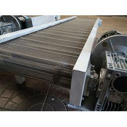 耐高温不锈钢输送机-中山输送机-加密编织小孔输送带(查看)图片