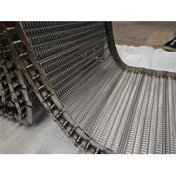 不锈钢网带输送机 建筑爬坡金属输送机-池州输送机图片
