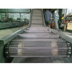 温州网带-不锈钢冲孔板式输送机-耐高温链板输送网带图片