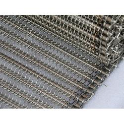 不锈钢耐磨板链输送带,惠州输送带,带隔板链条输送带网(查看)图片