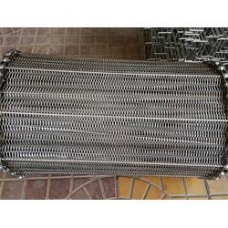 药材烘干通风链条网带-单层人字网金属输送带-温州输送带图片