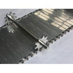 淮北输送带-不锈钢输送板带厂家-合页冲孔钢板传送带图片