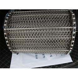 清洗机链网状输送带-6mm厚黑铁板传动带-广州输送带图片