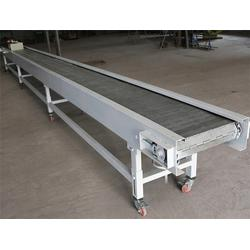 挡边隔板链板输送机-达州输送机-垃圾处理输送板带图片