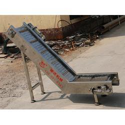 金华输送机-高温炉烘干链板网带-提升隔板金属输送机图片