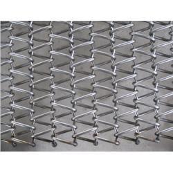 大同输送带-不锈钢输送带实体-冲圆孔链板输送带图片