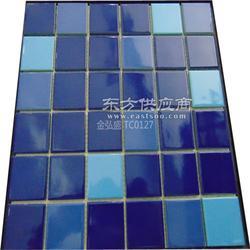 景观园林工程蓝色泳池专业生产陶瓷马赛克瓷砖图片