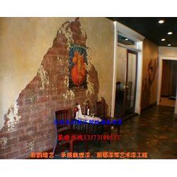 贴金箔艺术漆地面-东港区贴金箔艺术漆-彩韵墙艺坊质量可靠图片