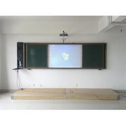 左右推拉黑板、珂俊教学质量可靠、洛阳推拉黑板图片