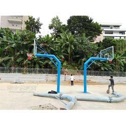 工厂单臂移动篮球架 小区固定式篮球架 埋地220圆管篮球架安装图片