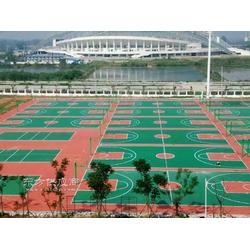 优冠体育材料打造环保无毒的塑胶跑道 硅PU球场 学校塑胶操场中国大的生产基地图片