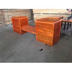 小区碳化木花箱-碳化木花箱-万德木业优质售后(查看)图片