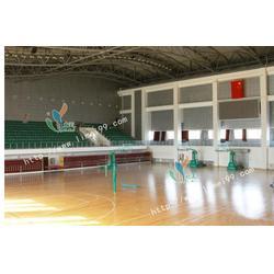 桂城坑口运动木地板,立美建材,运动木地板安装图片